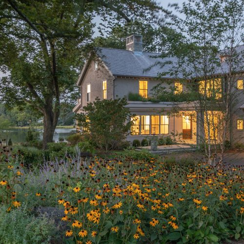 Wrapped in nature, large trees and 5 perennial gardens with black-eyed susans and Russian sage provide beauty at all hours of the day and in all seasons.